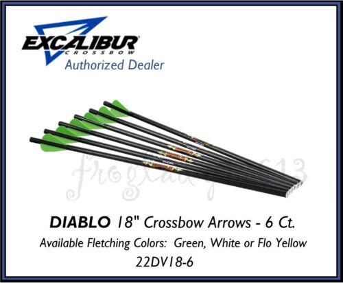 "EXCALIBUR Crossbow Diablo 18"" Carbon Crossbow Arrow/Bolt - 6 PK - 22DV18-6"