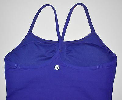 Lululemon Women's Dark Blue Racerback (ish) Workout Tank Top Size 4 EXCELLENT