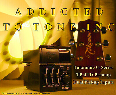 Takamine TP-4TD G Series Acoustic Guitar preamp NEW with War