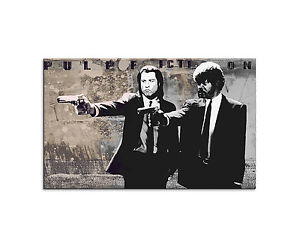 120x80cm - PULP FICTION III Wandbild Leinwand auf Keilrahmen Paul Sinus Art