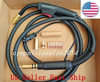 Us Seller Mig Welding Gun 15 200a Millermaticironman 250replace Miller M25