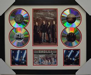 THE EAGLES 4CD SIGNED FRAMED MEMORABILIA LIMITED EDITION