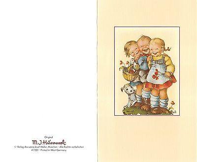 """Original Hummel Grußkarte mit Umschlag Ars sacra Verlag """"1212"""" unbeschrieben1980"""