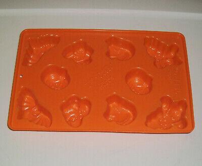 Jello Jiggler Mold Shots Halloween Orange Ghosts Bats Cats Witches Pumpkins