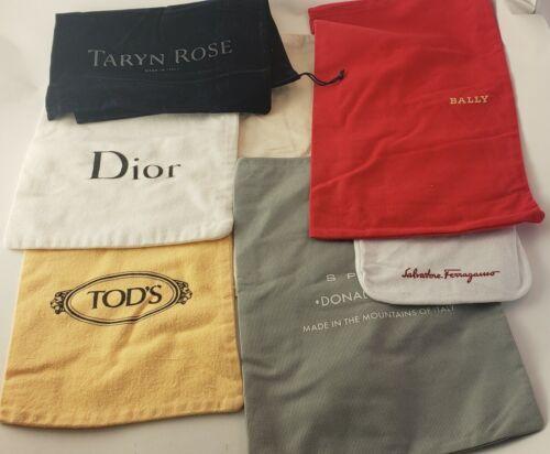 Huge Lot Shoe Dust Bag Travel Storage Drawstring Dior Cole Haan Todds Dealer Lot