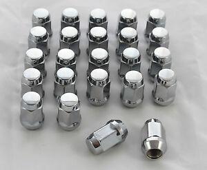 24 CHROME WHEEL NUTS M12 x 1.5mm TOYOTA HILUX 4 RUNNER SUNRASIA STEEL WHEEL
