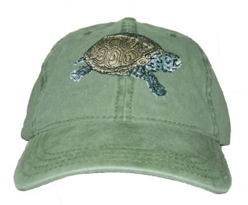 Diamondback Terrapin Embroidered Cotton Cap NEW Hat Reptile Turtle