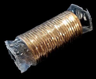 1994 Canada War Memorial Dollar Roll! 25 coins in plastic bank wrap!