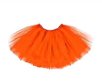 ock Tüllrock Lagen Petticoat Ballettkleid Rock Orange (Orange Tutu)