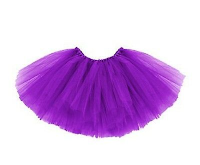 Tütü Tutu Tüllrock Ballettrock Ballet Rock Petticoat Balletkleid 3-lagig D. (Lila Tutus)