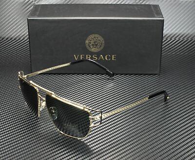 VERSACE VE2202 143687 Gold Grey 57 mm Men's Sunglasses