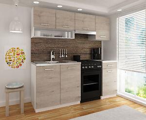 Küchenzeile LUIZA II 180cm Modulküche Komplettküche Einbauküche Küchenblock