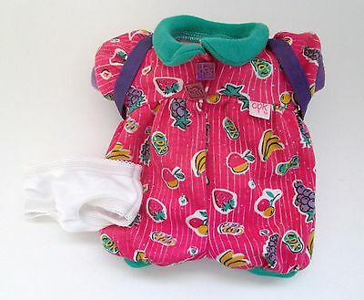 Cabbage Patch Snacktime Kids Clothes 1996 Mattel Romper Backpack and Underwear
