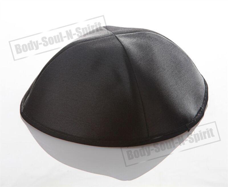 Black Satin Kippah Yarmulke Tribal Jewish Yamaka Kippa Israel Hat Covering Cap
