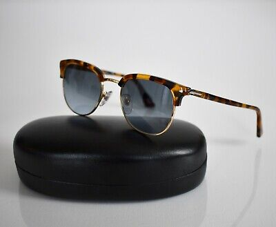 PERSOL 3105-S 1052/86 MADRETERRA Tortoise Gray CLUBMASTER Sunglasses (Persol Clubmaster)