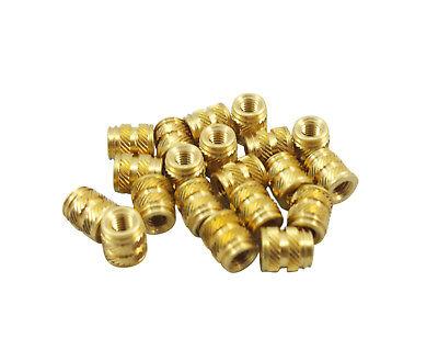 20x M3 3mm M3-0.5 Brass Threaded Metal Heat Set Screw Inserts 3d Printing Long