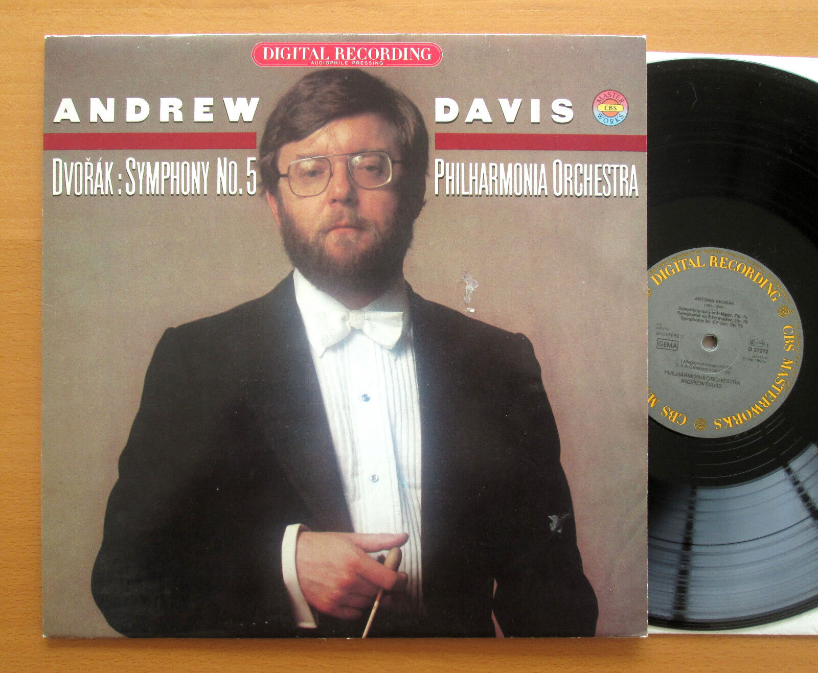 D 37272 Andrew Davis Dvorak Symphony 5 Philharmonia CBS Digital Audiophile NM/EX