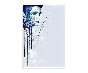 90x60cm PAUL SINUS Splash Art Gemälde Kunstbild Elvis-Presley