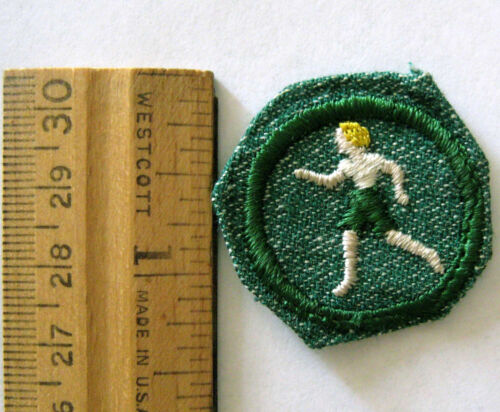 Vintage Girl Scout 1948-1955 SPORTS BADGE Games Running Soccer ATHLETE Patch