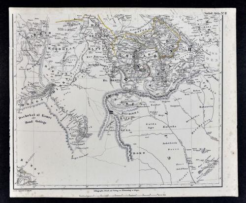 1847 Flemming Map - Northeast Africa - Darfur Sudan Chad Ethiopia Gondar Eritrea