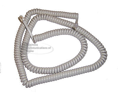 Lot Of 25 Cool White Phone Coil Curly Cords 25 Foot Length New