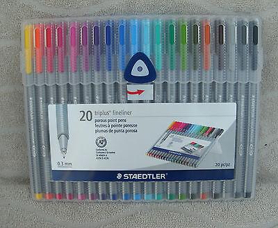 Staedtler Triplus Fineliner Pens, 20 Color Pack (SB20A604) ~ NEW