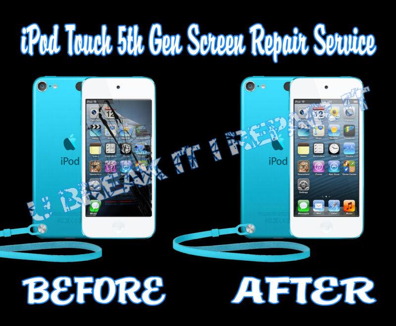 Ipod Touch 5th Gen Broken Cracked Glass Digitizer Lcd Screen Repair Service