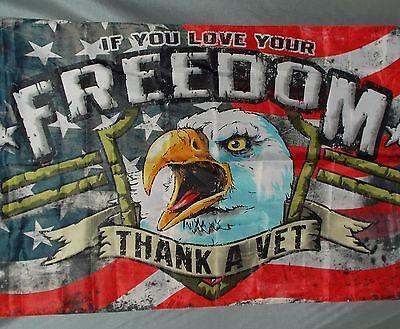 THANK A VET 3X5' FLAG NEW EAGLE ...