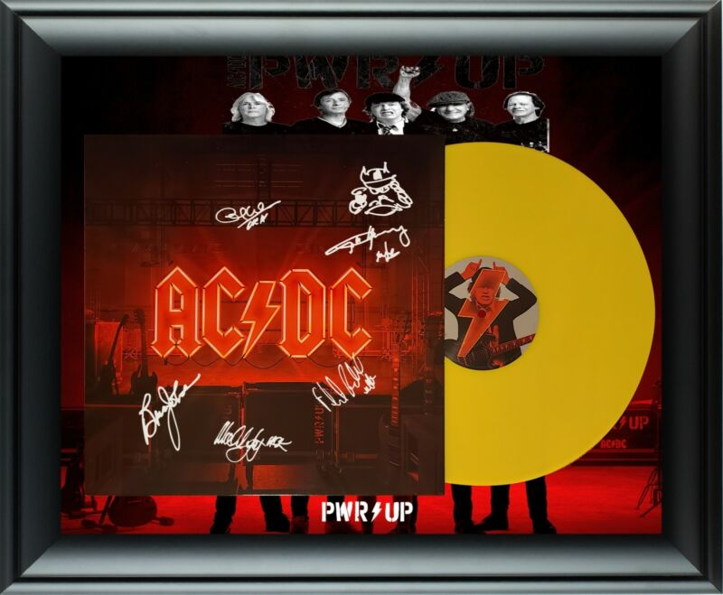 AC/DC ACDC Autographed RARE Ltd Edition Yellow Vinyl