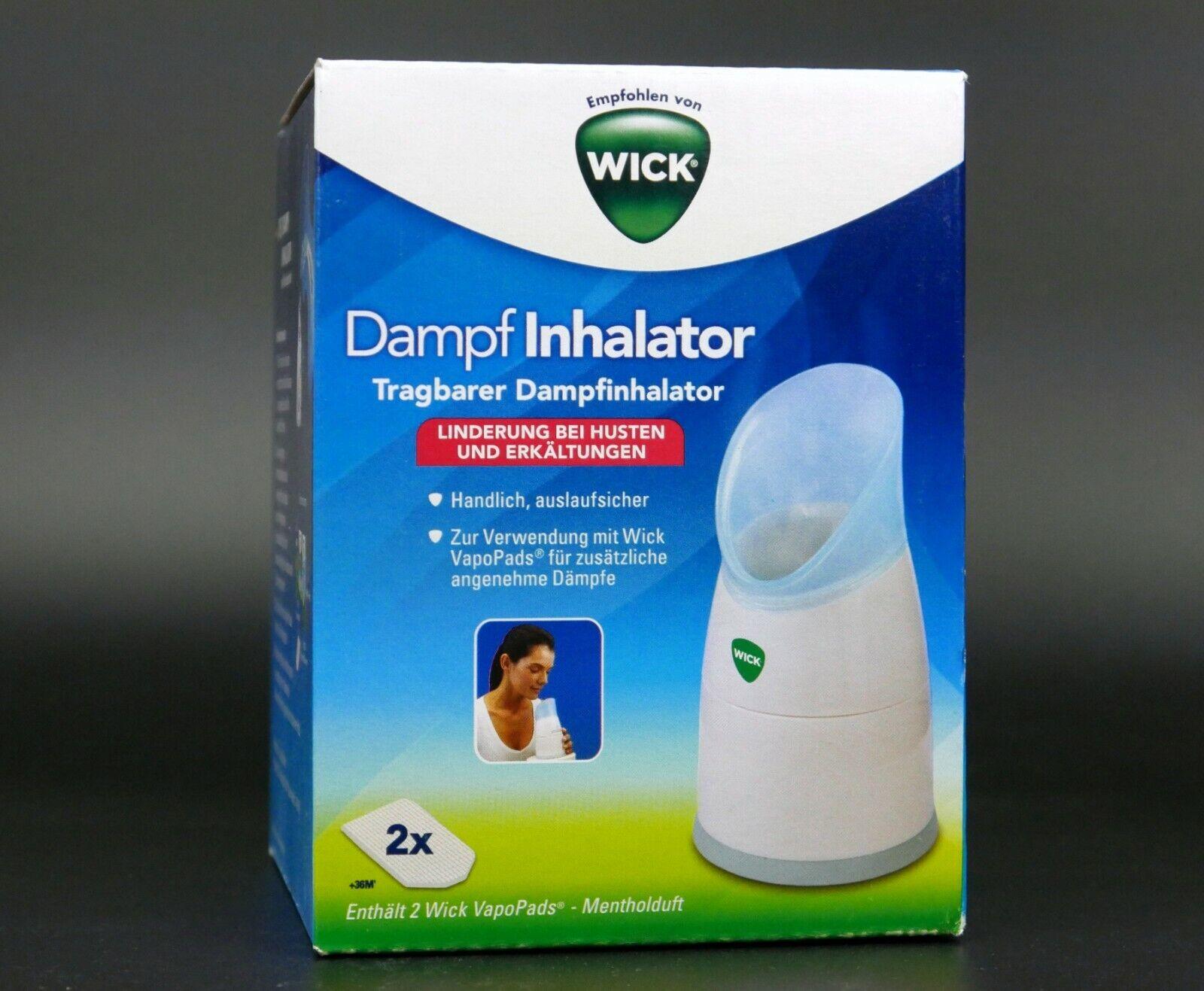 Wick Dampf- Inhalator inkl. 2 Vapopads für leichteres Atmen und guten Schlaf