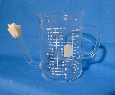 CATAMOUNT GLASSWARE - NO SPILL GRAVY SEPARATOR/MEASURING CUP - USA (Usa Messbecher)