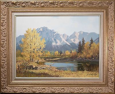 George A  Horvath Oil Painting  Autumn Solitude   Canadian Mountain Landscape