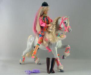 Poupee barbie ecuyere et son cheval mod le 1993 ebay - Barbie et son cheval ...