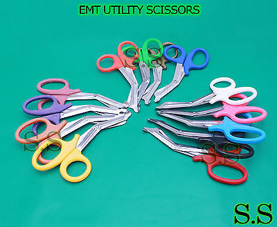 Lot Of 6 Ems Utility Shears 5.50 Surgical Instruments