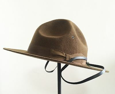 Wool Military Campaign Hat, Drill Sergeant Instructor Hat/ Mountie Ranger - Drill Instructor
