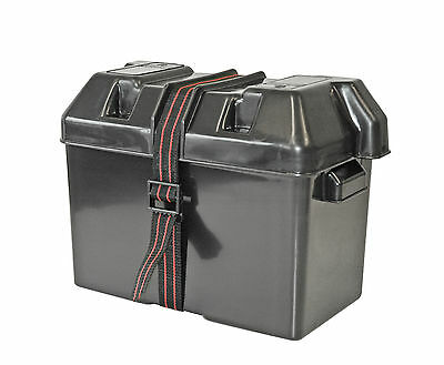 Batteriebox Batteriekasten große Größe mit Gurtband Batterie Kasten groß