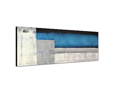 Panoramabild -150x50cm abstrakte Malerei Keilrahmenbild Leinwand modern