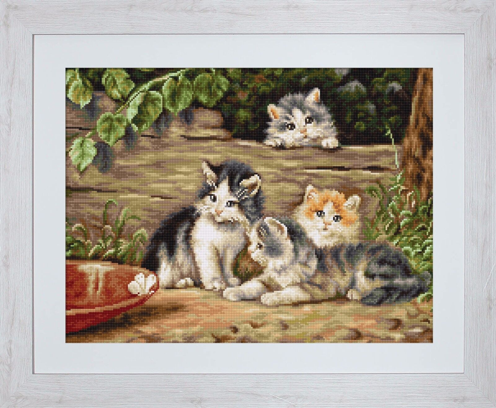 """Counted Cross Stitch Kit Luca-S B556 - """"The Cats"""""""
