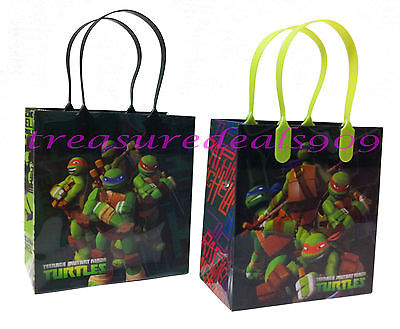 TEENAGE MUTANT NINJA TURTLES 12 PCS GOODIE BAGS PARTY FAVORS CANDY  BIRTHDAY BAG - Ninja Turtles Favors