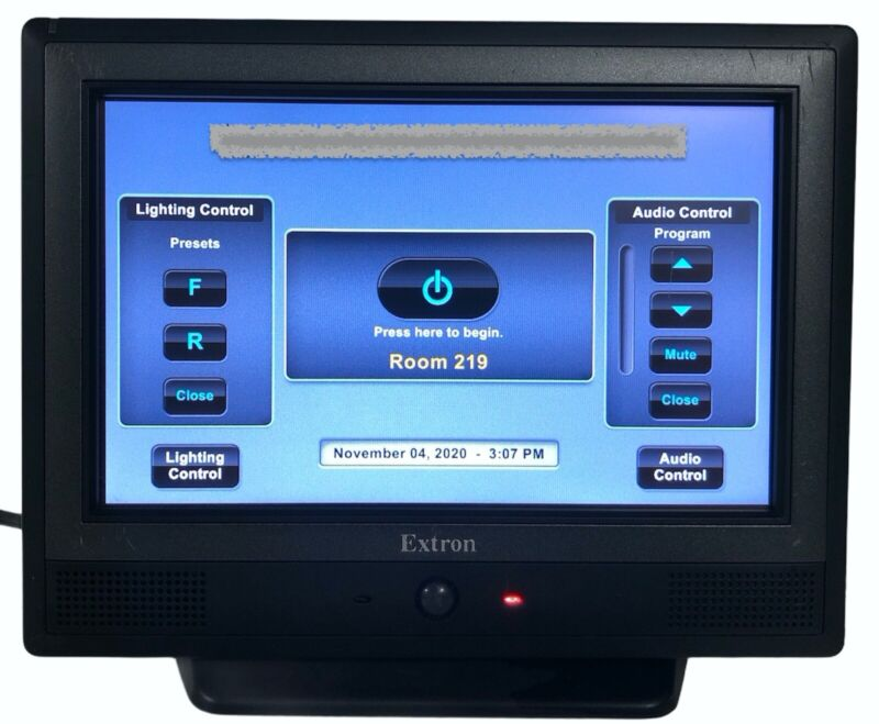 """Extron TLP 710TV 7"""" Black Tabletop Touch Link Touch Panel No Power Supply"""