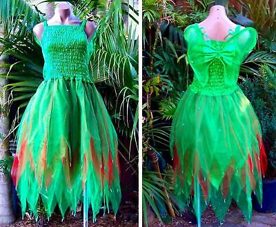 Women's Fairy Dress Party Costume with Wings – Forest Green & - Woodland Fairy Party