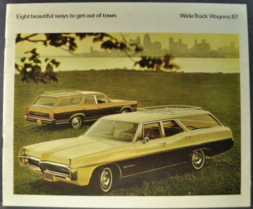 1967 Pontiac Station Wagon Brochure Bonneville Executive Safari Catalina Tempest