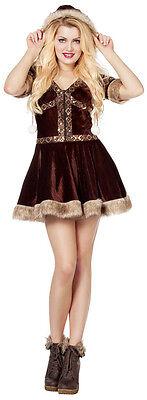 Alaska Girl Eskimo Kostüm NEU - Damen Karneval Fasching Verkleidung Kostüm