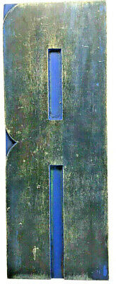 Vintage Huge Wood Letterpress Print Type Printers Block Letter R 10 Patina