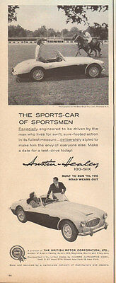 1950s Vintage English Sports Car AD AUSTIN HEALEY  100-six  Nice! 121716