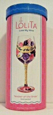 Hand Painted Wine Glass by Lolita