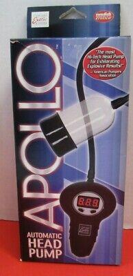 New California Exotic Novelties Apollo Automatic Head Pump, High Tech,  Clear High Head Pump