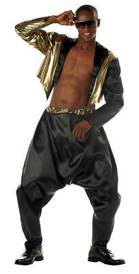 Hammer Style Adult Men's Costume 80s 90s Hip Hop SM-XL (Old School Rapper Kostüm)