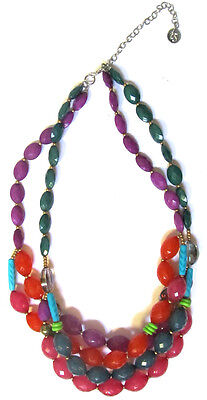 TS TAKING SHAPE 'Joyeaux Necklace' colourful faceted beads jewellery jewelry NWT