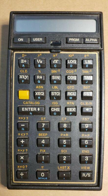 Vintage Hewlett Packard HP-41CV Scientific Calculator